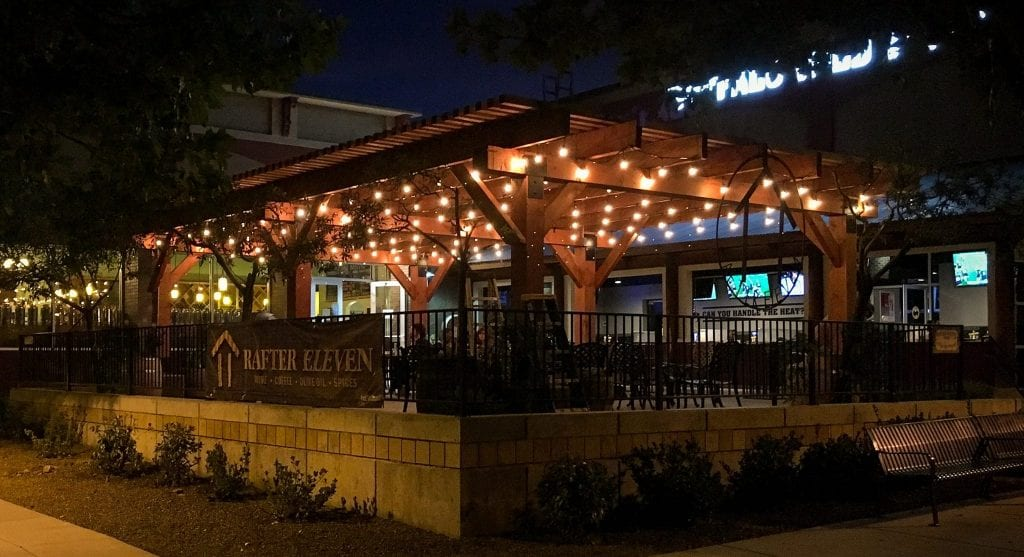rafter eleven night patio