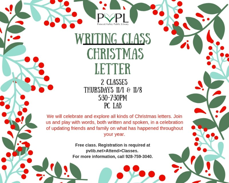 Christmas Letters.Prescott Valley Public Library Fun Writing A Christmas