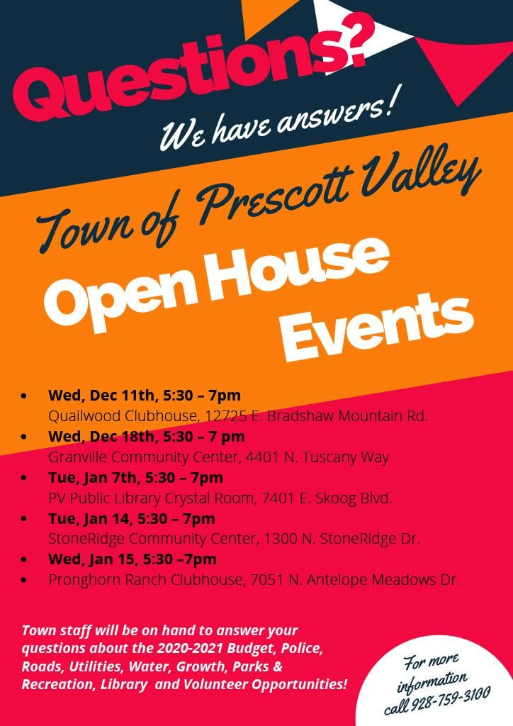 Prescott Valley is Hosting More Opening Houses - Signals AZ